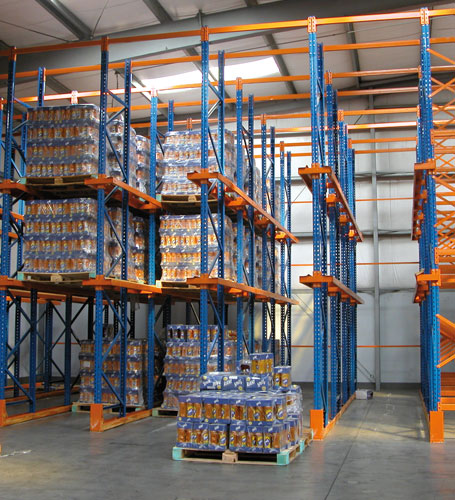 Drive-In and Drive-Through Racking System
